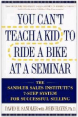 Sales Book Review You Can't Teach a Kid to Ride a Bike at a Seminar